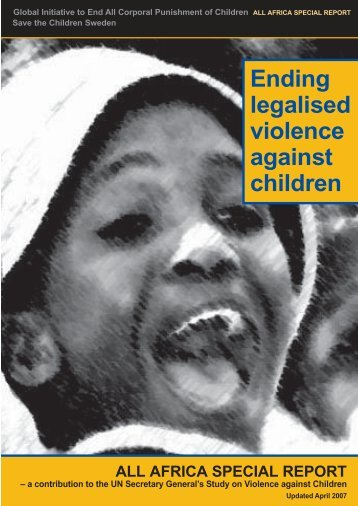 corporal punishment of children Corporal punishment in the home the first purpose of law reform to prohibit corporal punishment of children within the family is prevention:.