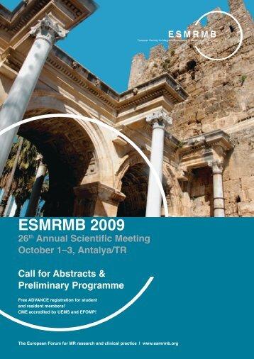 ESMRMB 2009