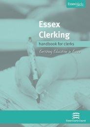 clerks handbook 2011 - the Essex Clerks