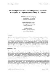An Investigation of the Factors Impacting Customers ... - Asbbs.org