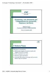 Slide della presentazione - Cisi - Università degli Studi di Torino