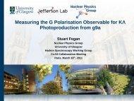 P - Nuclear Physics - University of Glasgow