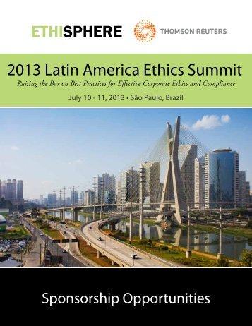 ETHISPHERE 2013 Latin America Ethics Summit - West ...