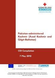 Pakistan-administered Kashmir (Azad Kashmir and Gilgit ... - UNHCR