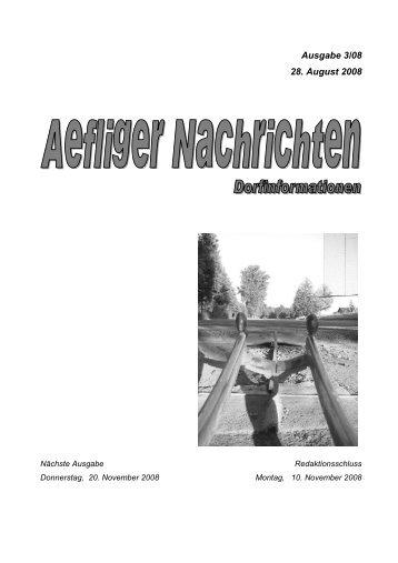 Ausgabe 3/08 28. August 2008 - Aefligen
