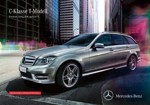 Download Preisliste C-Klasse T-Modell gültig ab ... - Mercedes-Benz