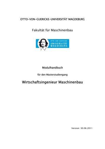 Modulhandbuch - Otto-von-Guericke-Universität Magdeburg