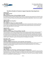 August & September Upcoming Events - West Shore Chamber of ...