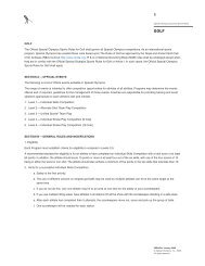 GOLF The Official Special Olympics Sports Rules for Golf shall ...