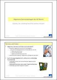 Allgemeine Seminarspielregeln der AG Martini g p g Aspekte, die ...