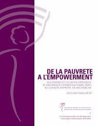 Points saillants (PDF) - Canadian Women's Foundation