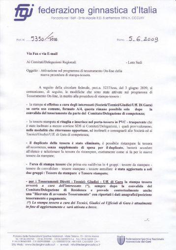 fed erazione ginnastica d'ltalia - Comitato Regionale Campania F.G.I.