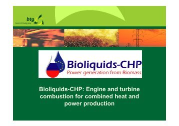 Bioliquids-CHP: Engine and turbine combustion for combined heat ...
