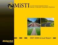 MiSTI Annual Report for 2007-2008 - Michigan Technological ...