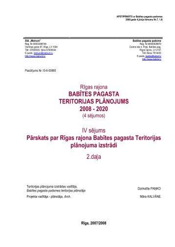 2.daļa - Rīgas Plānošanas Reģions
