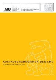 austauschabkommen der lmu - Ludwig-Maximilians-Universität ...