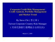 By Steve Chi ( 季正華) Taiwan Corporate Country Risk Manager ( 美 ...
