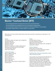 Maximo® Functional Review (MFR) - Total Resource Management