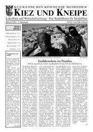 Januar - Kiez und Kneipe Neukölln