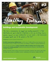 Healthy Futures 3 - Buildings and sustainable development