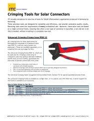 Crimping Tools for Solar Connectors