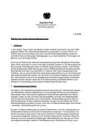Reform der Unternehmensbesteuerung - Joachim Poß