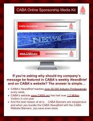 CABA Online Sponsorship Media Kit