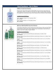 Hand Sanitizers - Gel & Wipes