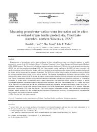 Measuring groundwater–surface water interaction and ... - Wisconsin