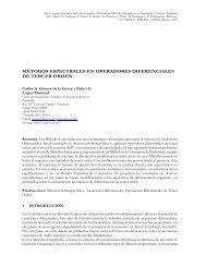 métodos espectrales en operadores diferenciales de tercer orden.