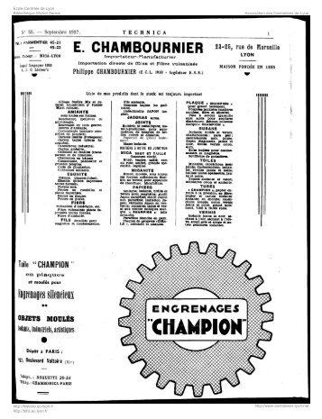 Revue Technica, année 1937, numéro 55 - Histoire de l'École ...