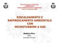 Riscaldamento e raffrescamento ambientale con microturbine a gas