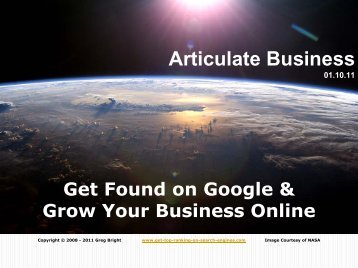 Articulate Business - SEO - Search Engine Optimization