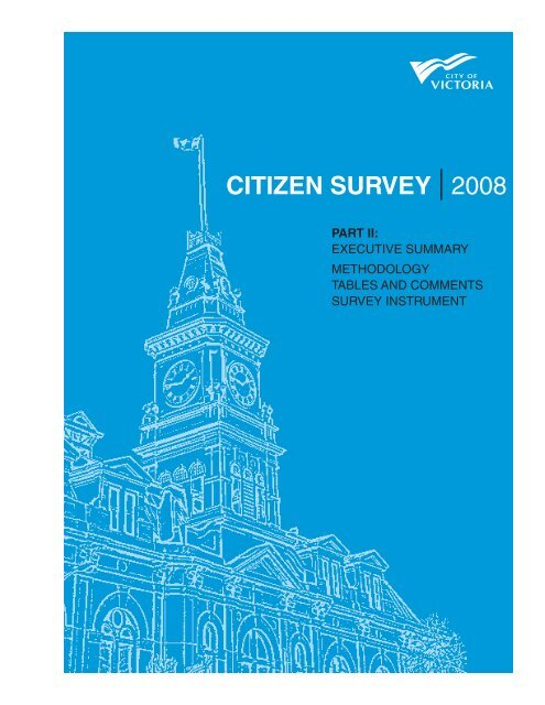Part 1: Executive Summary and Survey Results [PDF - 1.3 ... - Victoria