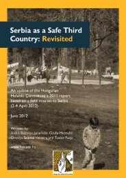 Serbia as a Safe Third Country: Revisited