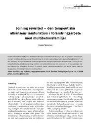 Joining revisited - Svenska föreningen för familjeterapi