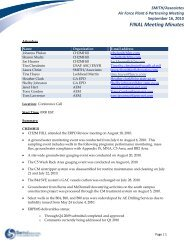Air Force Plant 6 Meeting Summary – 16 ... - Smith | Associates