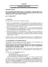 Merkblatt Besondere Prüfung 2007 für Schüler der Jahrgangsstufe ...