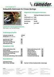 Einbauhilfe Elektrosatz für Citroen Berlingo