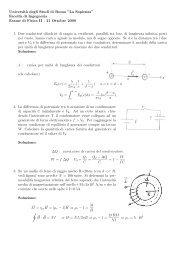 Prova d'esame del 21 ottobre 2000 - Sapienza