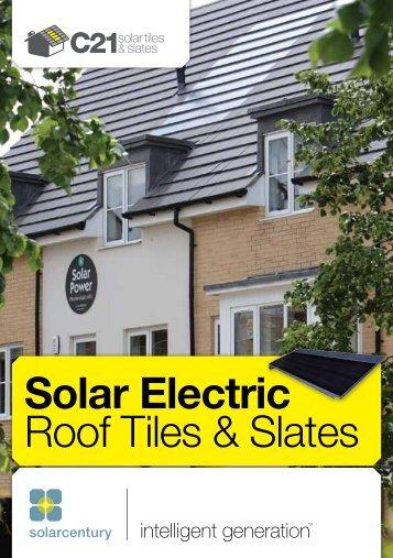 Solar Electric Roof Tiles & Slates - Solarcentury