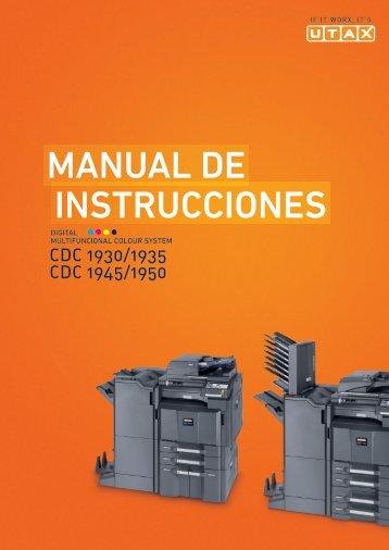 InstruccIones Manual de - UTAX NL