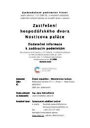 Dodatečné informace - Ministerstvo kultury