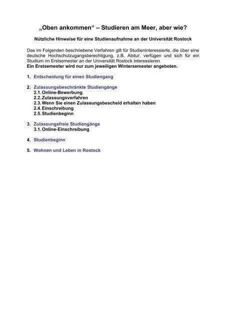 Grundstandige Studiengange Universitat Rostock 11