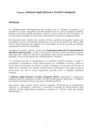 Progetto: Sistema degli Itinerari Turistici Integrati - Il forum ...