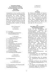 Neue Promotionsordnung der Med. Fakultät vom 20.12 ... - MedRSD
