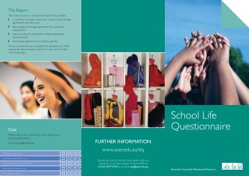 School Life Questionnaire - ACER