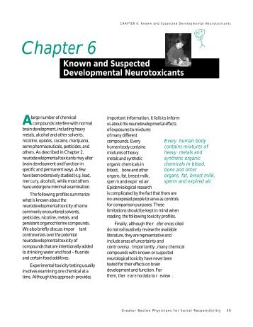 Chapter 6 - Physicians for Social Responsibility