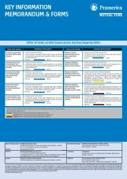 KEY INFORMATION MEMORANDUM & FORMS - IFIN LTD