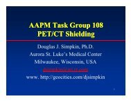 The AAPM PET/CT Task Group Recommendations - Radiation ...